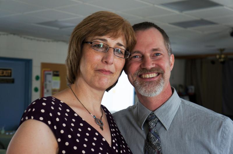 Karen and Matt Beck. Wanda and Willie Moeller's 50th Wedding Anniversary celebration, Gila Mt. RV Park, Yuma, AZ. Mar. 10, 2012.