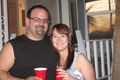 Joe Whitney and girlfriend, Krissy. Willie Moeller's 50th Wedding Anniversary celebration, Gila Mt. RV Park, Yuma, AZ. Mar. 10, 2012.