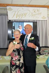 Presentation at Wanda and Willie Moeller's 50th Wedding Anniversary Celebration, Gila Mt. RV Park, Yuma, AZ. Mar. 10, 2012.