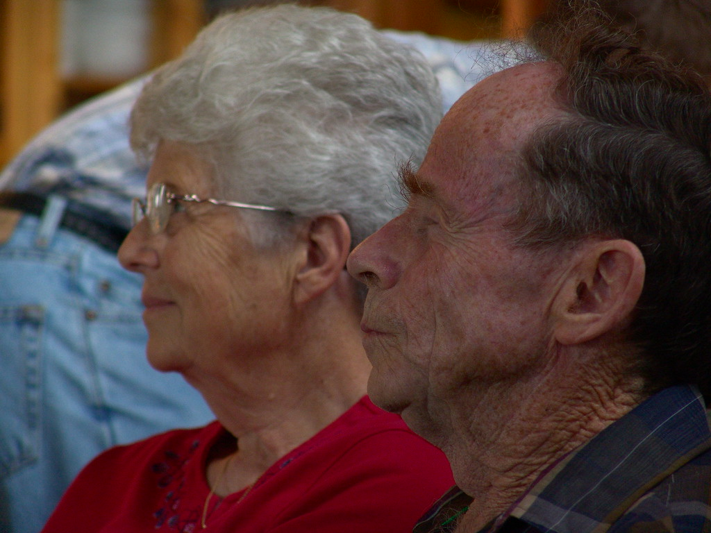 Mom and Dad enjoying the program.