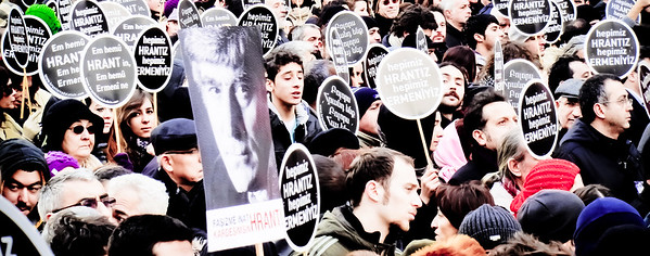 March for Hrant Dink, Istanbul (Jan 19, 2012)