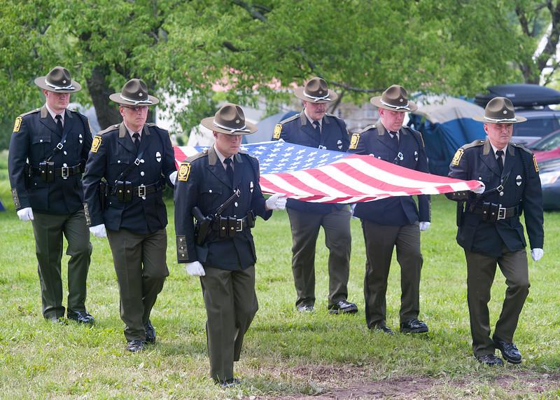 Color guard, John Booth Memorial 2011