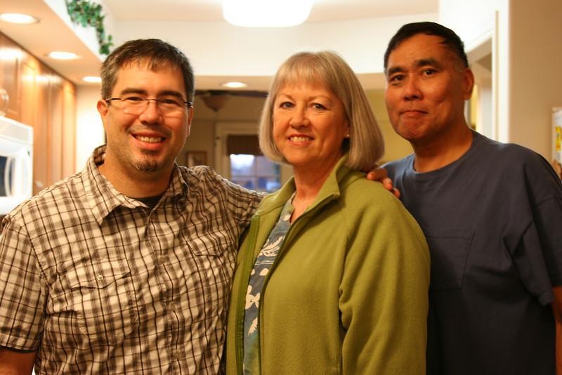 Tom, Mom, and Bert.