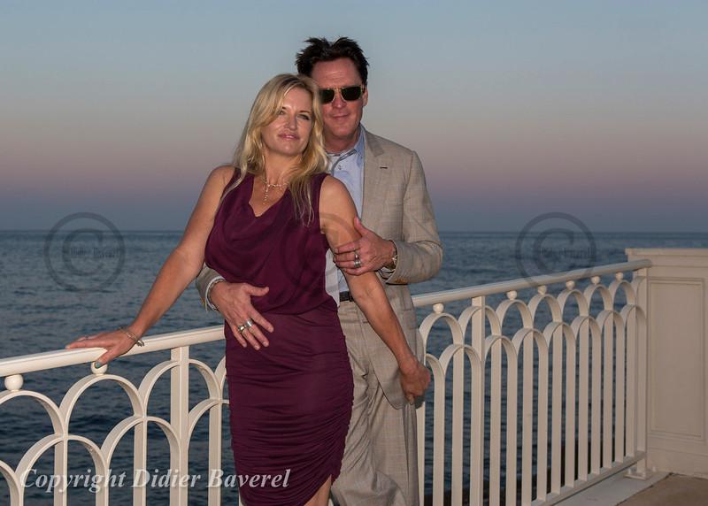 Soiree Orange au Monte Carlo Bay. Michael Madsen et sa femme.