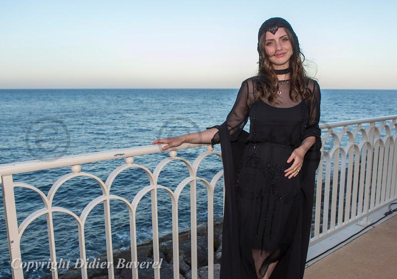 Soiree Orange au Monte Carlo Bay.  Zoe Blue Sidel la fille de Rosanna Arquette.
