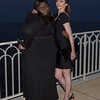 Soiree Orange au Monte Carlo Bay. Gabourey Sidibe et Bitsie Tulloch.