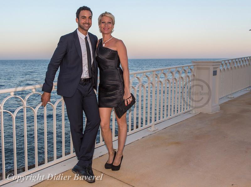 Soiree Orange au Monte Carlo Bay. Rebecca Hampton et Joakim Latzko.