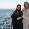 Soiree Orange au Monte Carlo Bay. Rosanna Arquette et sa fille Zoe Blue Sidel.
