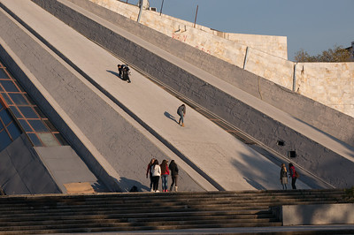 """Tirana Pyramid"" built as ""Enver Hoxha Museum"" to honor former dictator. Now mostly in disarray."