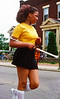 """A drum majorette in the Columbus East Side 1977 Fourth of July Parade on Livingston Ave; you can see the rest of that parade along with one other at <a href=""""http://smu.gs/Way88w"""">http://smu.gs/Way88w</a>"""