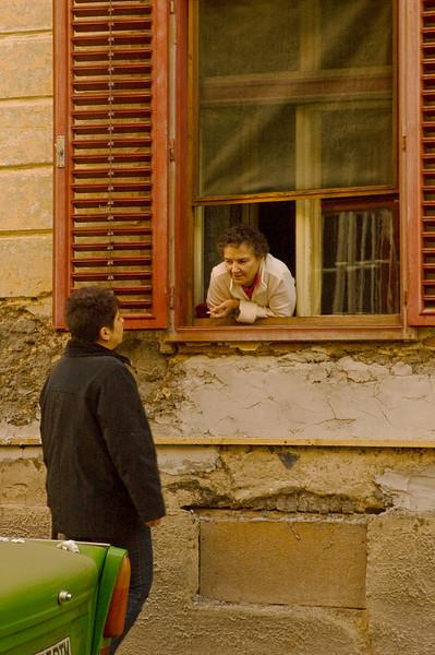 Neighborhood news, Sibiu, Romania (See Travel>Romania>Sibiu.)