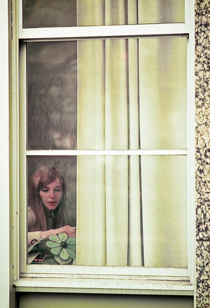 Woman in the window, Ohio State University, 1969