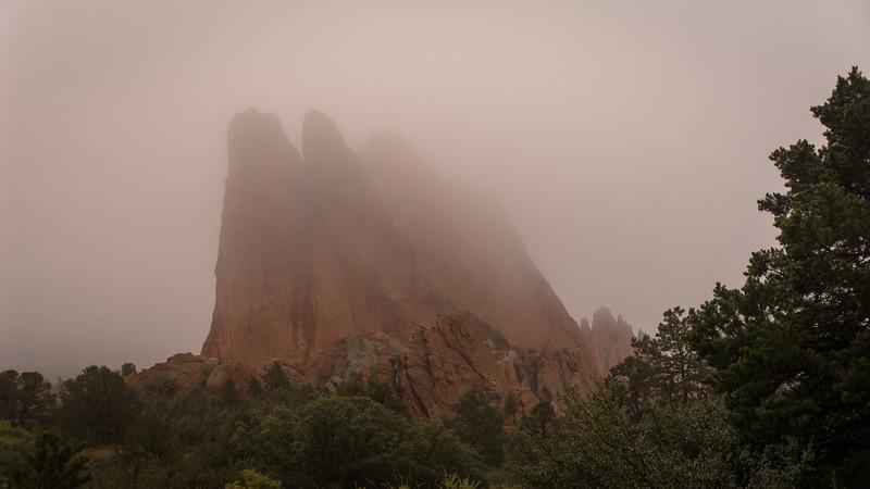 Garden of the Gods in Fog