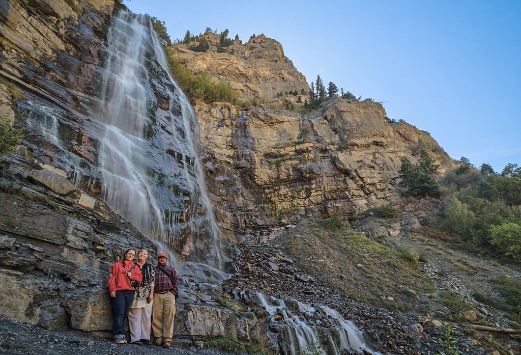 the Fam and Bridal Veil Falls