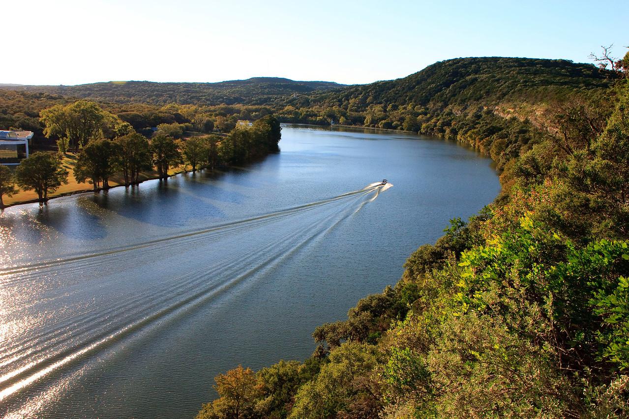 Looking west at Lake Austin.