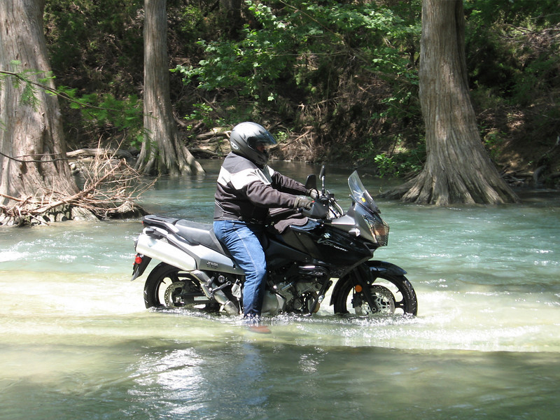 Mike on Aker Road water crossing