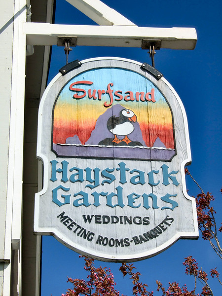 The wedding and reception was held at the Haystack Gardens in Cannon Beach, Oregon.