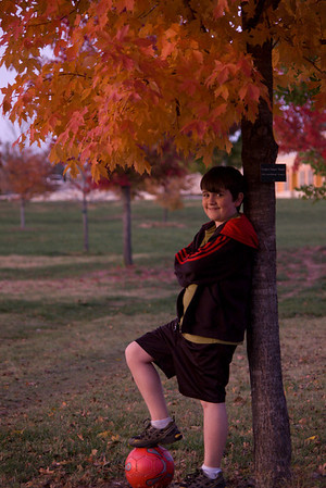 My soccer player! Daniel and I on our fall shoot at Nathaniel Greene Park and Maplewood Cemetery.