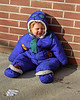 Jacob in his first snowsuit.
