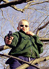 Well are you feeling lucky punk?<br /> <br /> Jacob in a tree with a toy gun.  His mother went through a - let's not let him play with toy guns - phase.  A common affliction of boomer generation women brought up on 1970's feminist nonsense.  Of course boys will play with guns, or whatever causes the most mayhem. If their mother's take them away they will pretend.  Jacob's mom gave up when he fashioned guns and knives out of sticks and his fingers.  Boys will, and should be boys, and mothers better get used to it.