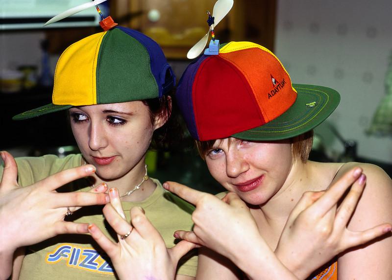 Helen and Melanie teenaging.