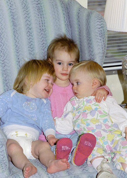 Helen, Brianna and Amanda Baker as babies.  Probably taken in Houston in 1987.