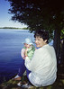 Ruth with newborn Jacob at Dog Lake. The original color film negative had underexposed shadows. I was using a chintzy Ph.D. (push here dummy) film camera that didn't handle daylight fill flash well. I scanned the image twice. Once to capture the highlights and again with the scanner light source turned way up to extract as much shadow detail as possible. I planned to blend the two scans and remove the usual scratches and blemishes but didn't get around to it until today. I used the stack feature in Affinity Photo. It neatly loads and aligns multiple exposures of the same subject. Average blending of the two scans produced a nice baseline to start the usual restoration and adjustment process.