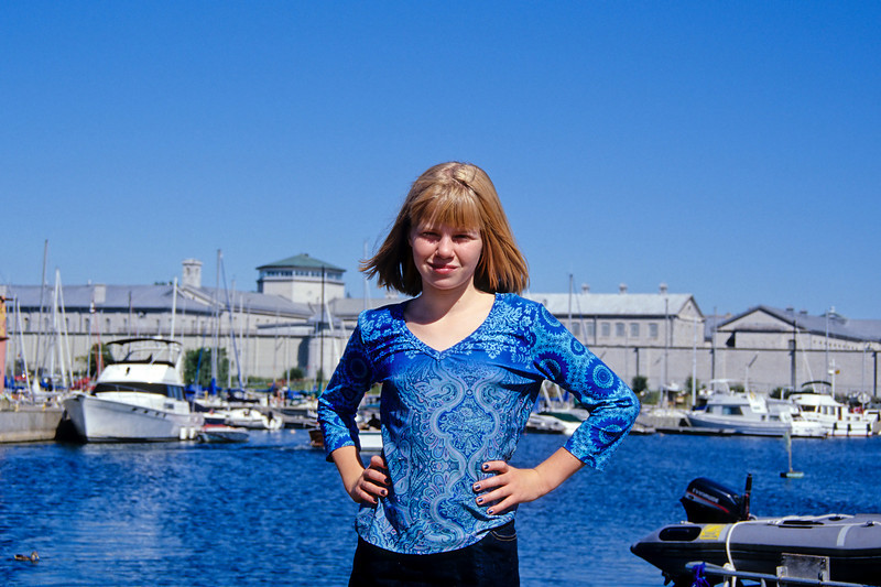 Helen at Olympic harbor in Kingston.