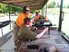 On the Kingston gun range. Shooting stuff is just plain fun.