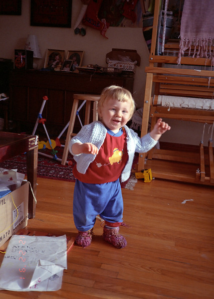 Jacob was on his feet before he was nine months old.