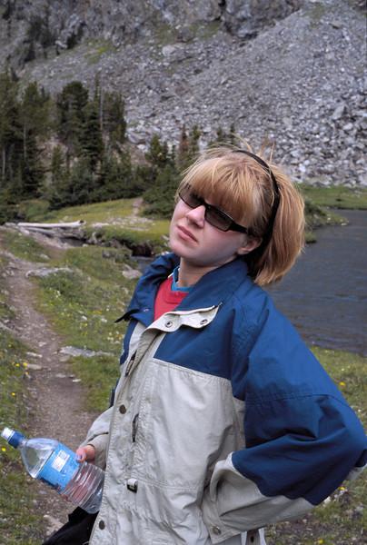 My daughter Pine Creek trail Montana.