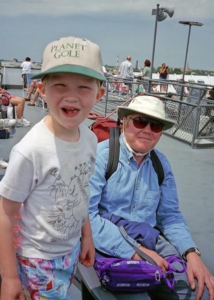 Jacob John crossing lake Michigan on the ferry.
