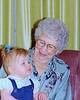 My daughter Helen with my grandmother Helen.  This was the only opportunity Helen senior had to meet her namesake.  Helen died suddenly shortly after this picture was taken.  I still remember the joy in my grandmother's voice when I told her my daughter's name.