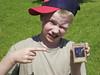 Jacob with a magic card.