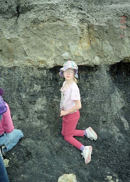 At our dinosaur camp dig near Drumheller Alberta.