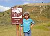 At Madison buffalo jump near Three Forks Montana.