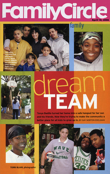 """I had the great privilege of photographing and working with these terrific youngsters, and the mother who inspires them.  Through the article in Family Circle, the DreamTeam initiative was introduced to over 10 million readers.  As they say, """"great trees from little acorns grow"""" and grow, grow they have!"""