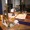 The altar during Lent
