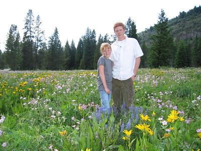 Ashley and Kyle near Grand Targhee, Idaho.