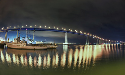 Rain was moving into San Diego tonight.  I had an early start so luckily before it started I found a new location in National City where I could photograph the Coronado Bay Bridge.  This part of the city is filled with war ships and there are ship repair yards everywhere.  It's an interesting part of the city.