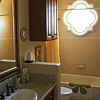 This is the guest bathroom, which is located between the two guest rooms.