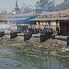 crémation au bord de la Bagmati (fleuve)