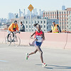 Mary Keitany of Kenya, who held a big lead in the first half, but didn't manage to keep it up and win.