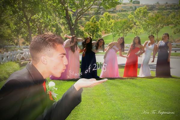 Natalie and Friends Senior Prom 2015