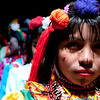 It is common to see women of the Embera-Chami indigenous group on the streets of Bogota asking for food or money, or selling their artisanal crafts for their daily survival.  As a people, they have often had to leave their lands because of the armed conflict.  During the Victim´s Day events they made public their call for the relocation and return of the community.<br /> Photograph: PBI Colombia