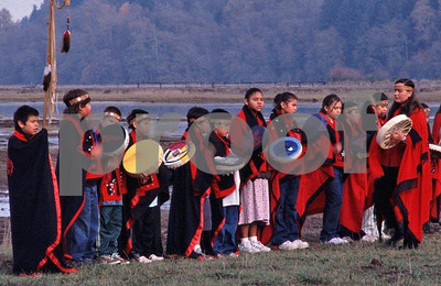 Nisqually Tribe dancers group 1