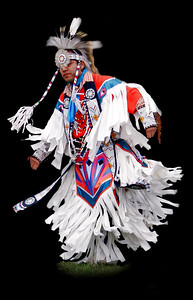 Native Americans in tribal regalia