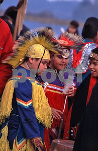 Nisqually Tribe dancers 3 boys
