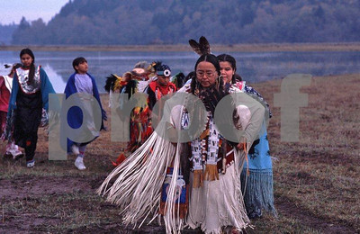 Nisqually Tribe dancers elder woman b