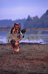 Nisqually Tribe dancers 1 boy
